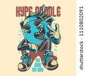 hype noodle illustration | Shutterstock .eps vector #1110802091