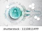 protection mechanism  concept ... | Shutterstock .eps vector #1110811499