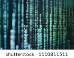 multiple layer binary code... | Shutterstock . vector #1110811511