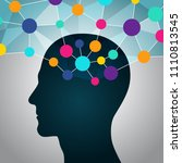 man and big data  communication ... | Shutterstock .eps vector #1110813545