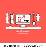 online fashion design school... | Shutterstock .eps vector #1110826277