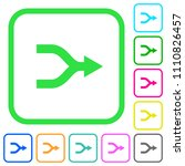 merge arrows vivid colored flat ... | Shutterstock .eps vector #1110826457
