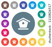 bird feeder flat white icons on ... | Shutterstock .eps vector #1110826517