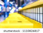 yellow steel chair arranged on...   Shutterstock . vector #1110826817