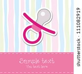 baby girl shower invitation card | Shutterstock .eps vector #111082919