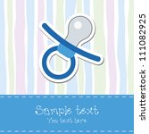 baby boy shower invitation card | Shutterstock .eps vector #111082925