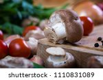 fresh mixed vegetables on... | Shutterstock . vector #1110831089