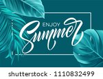 summer poster with tropical... | Shutterstock .eps vector #1110832499