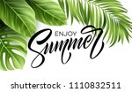 summer poster with tropical...   Shutterstock .eps vector #1110832511