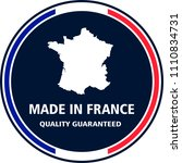 made in france quality stamp.... | Shutterstock .eps vector #1110834731