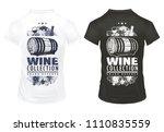 vintage wine prints template on ... | Shutterstock .eps vector #1110835559