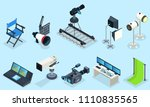isometric cinematography...   Shutterstock .eps vector #1110835565