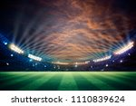 lights at night and football... | Shutterstock . vector #1110839624