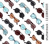 glasses seamless pattern vector ... | Shutterstock .eps vector #1110843035