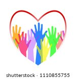 the concept of love between... | Shutterstock .eps vector #1110855755