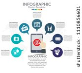 infographic diagram with steps  ... | Shutterstock .eps vector #1110856601