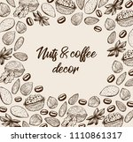 vector template with ink sketch ... | Shutterstock .eps vector #1110861317