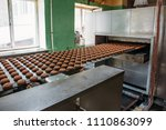 automatic bakery production... | Shutterstock . vector #1110863099