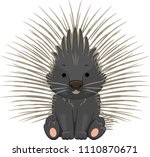illustration of a porcupine... | Shutterstock .eps vector #1110870671