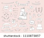 hand drawn wedding vector... | Shutterstock .eps vector #1110873857