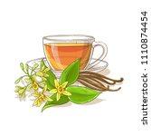 vanilla tea illustration | Shutterstock .eps vector #1110874454