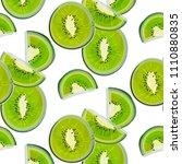 kiwi watercolor pattern. modern ... | Shutterstock .eps vector #1110880835