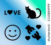 vector icon set about love with ... | Shutterstock .eps vector #1110884999