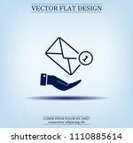 mail envelope on the hand  mail.... | Shutterstock .eps vector #1110885614