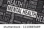 mental health words background | Shutterstock .eps vector #1110885689
