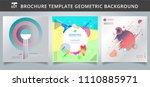 set template geometric covers...   Shutterstock .eps vector #1110885971