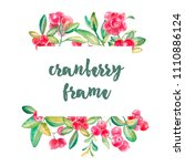 hand drawn watercolor frame...   Shutterstock . vector #1110886124