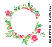 hand drawn watercolor frame...   Shutterstock . vector #1110886127