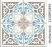 ancient floor ceramic tiles.... | Shutterstock .eps vector #1110891854