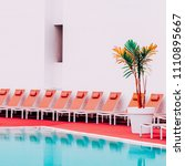minimalistic location. pool.... | Shutterstock . vector #1110895667