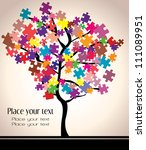 abstract beautiful tree design... | Shutterstock .eps vector #111089951