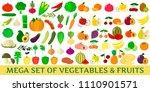 mega set of vegetables and... | Shutterstock . vector #1110901571