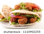 sandwich with vegetable and... | Shutterstock . vector #1110902255