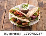 sandwich with vegetable and... | Shutterstock . vector #1110902267