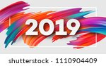 2019 new year on the background ... | Shutterstock .eps vector #1110904409