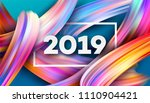 2019 new year on the background ... | Shutterstock .eps vector #1110904421