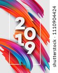 2019 new year on the background ... | Shutterstock .eps vector #1110904424