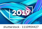 2019 new year on the background ...   Shutterstock .eps vector #1110904427