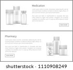 pharmacy web posters set with... | Shutterstock .eps vector #1110908249