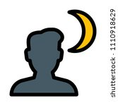 night mode shot | Shutterstock .eps vector #1110918629