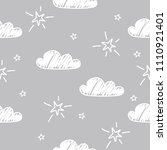 hand drawn seamless pattern... | Shutterstock .eps vector #1110921401