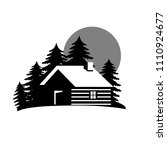 wood house in the hill  icons... | Shutterstock .eps vector #1110924677