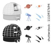 observatory with radio... | Shutterstock . vector #1110937694
