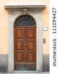beautiful tuscan italian door | Shutterstock . vector #111094427