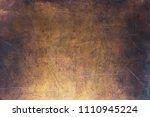 vintage copper texture  bronze... | Shutterstock . vector #1110945224