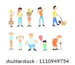 a set of diverse people of... | Shutterstock .eps vector #1110949754